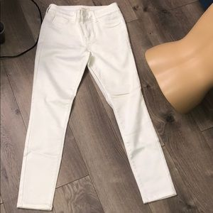 Brand new white high waist ankle jeans